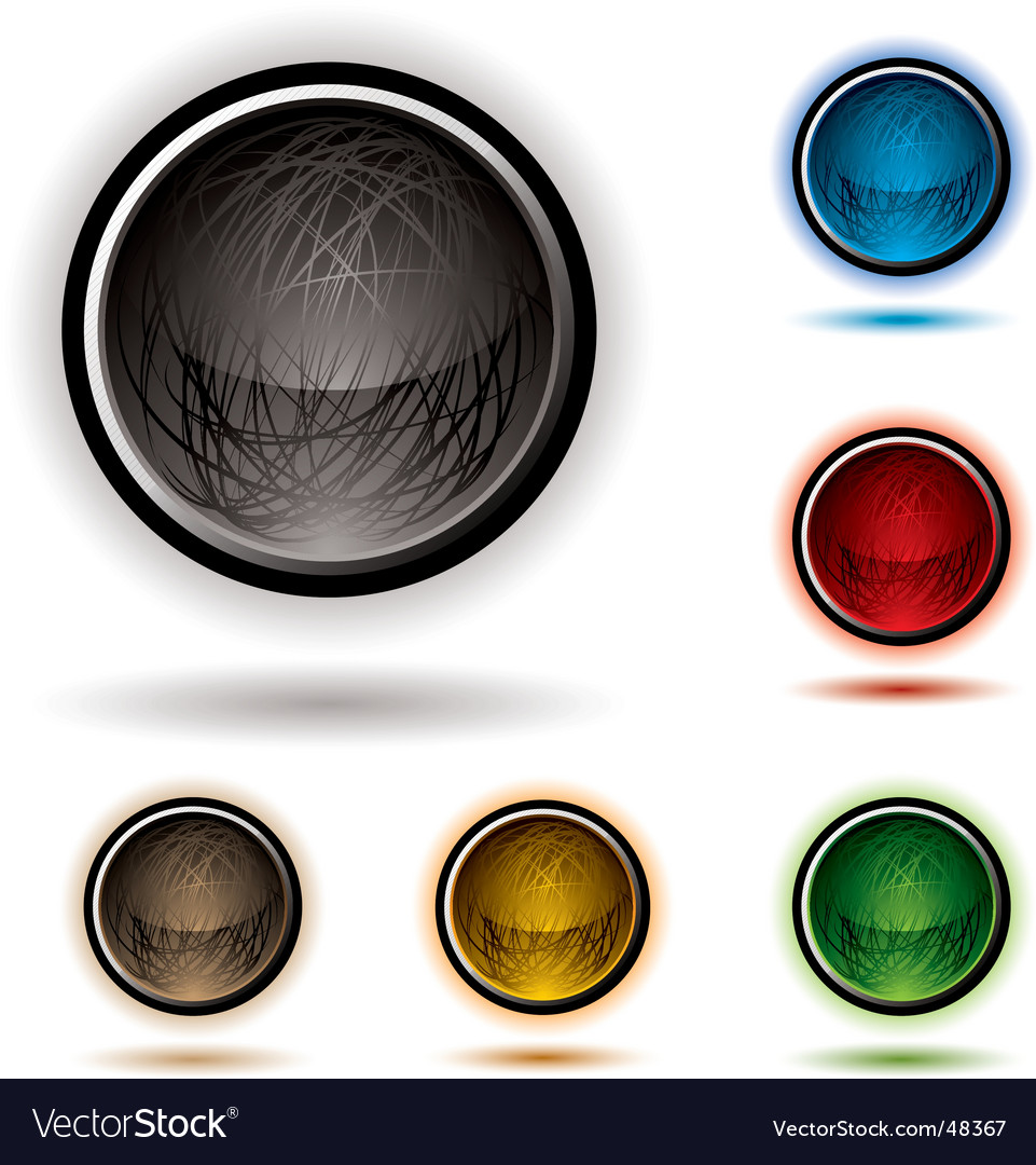 Scribble button glow vector | Price: 1 Credit (USD $1)