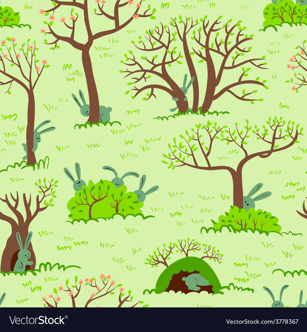 Spring seamless vector | Price: 1 Credit (USD $1)