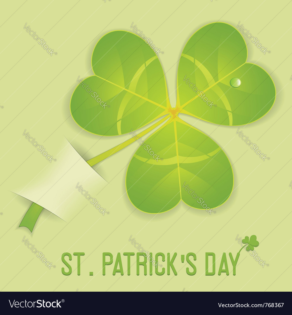 St patricks clover vector | Price: 1 Credit (USD $1)
