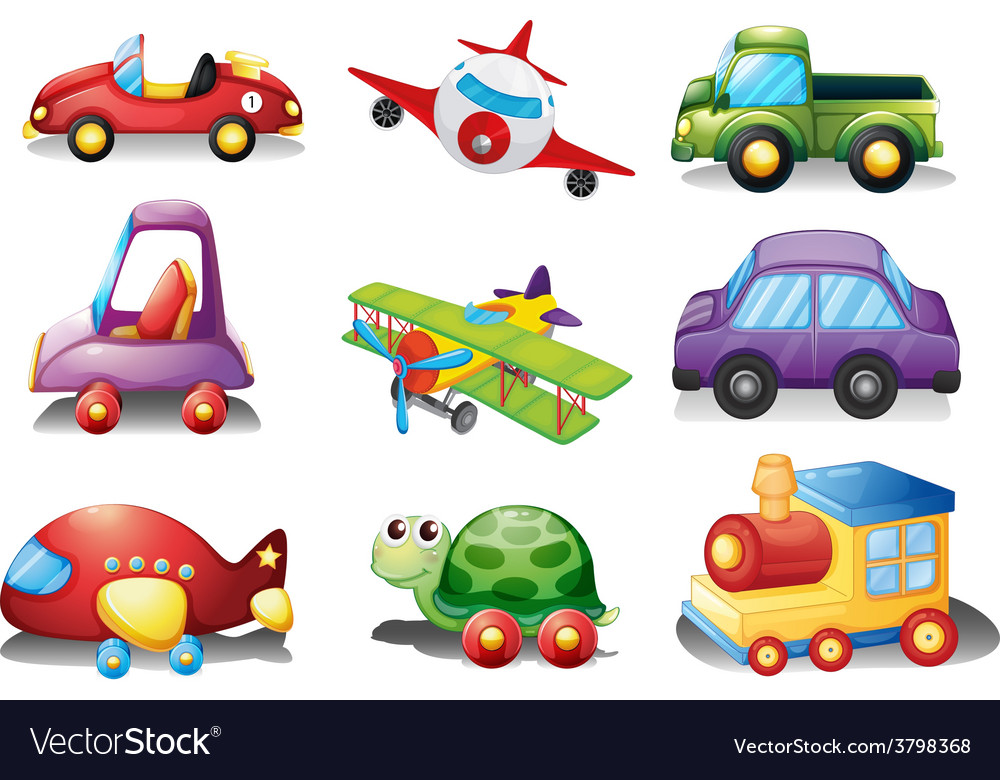 A collection of toys vector | Price: 1 Credit (USD $1)