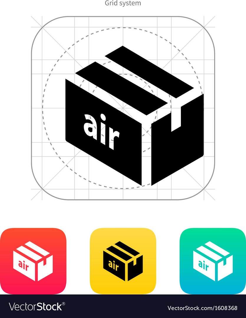 Air delivery icon vector | Price: 1 Credit (USD $1)