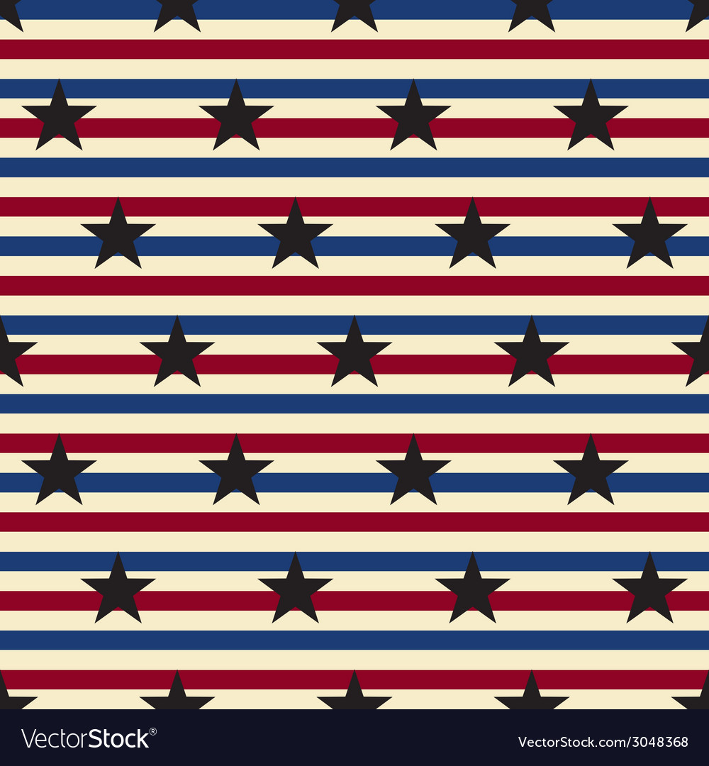 American stars and stripes seamless pattern vector | Price: 1 Credit (USD $1)