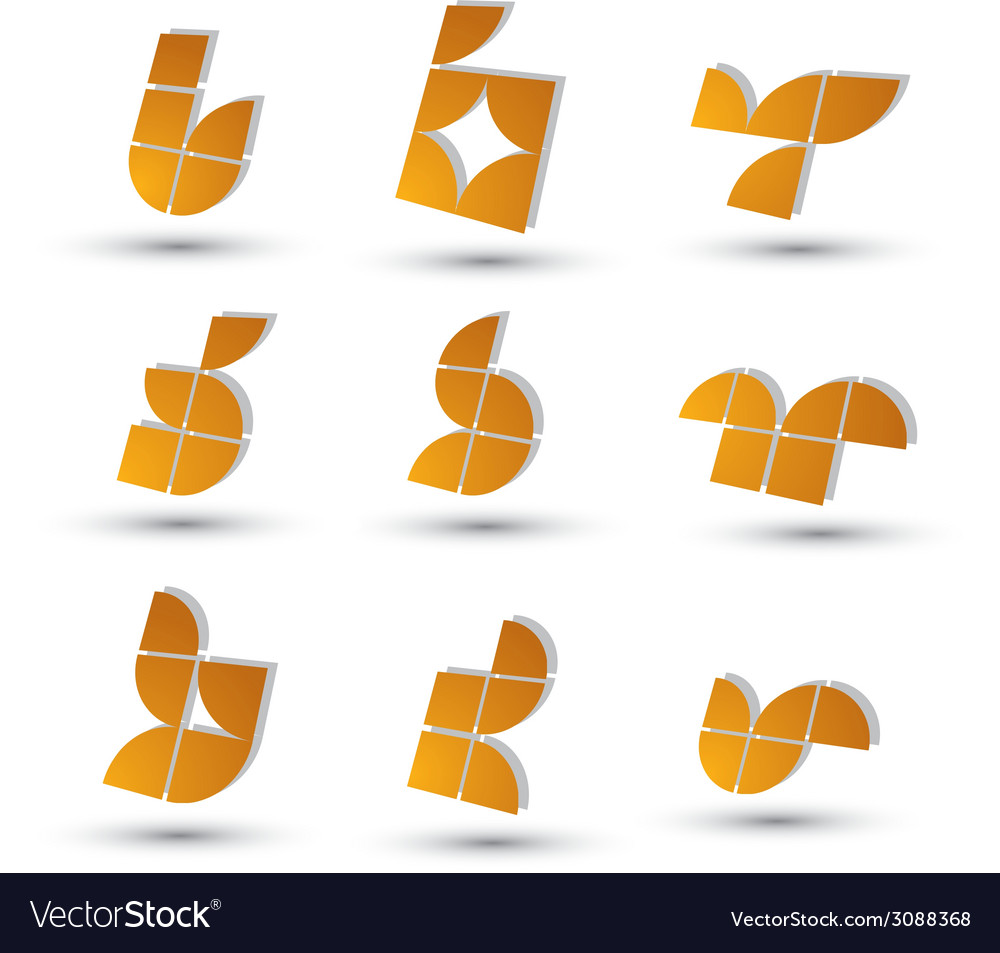 Geometric 3d simple symbols set abstract abstract vector   Price: 1 Credit (USD $1)