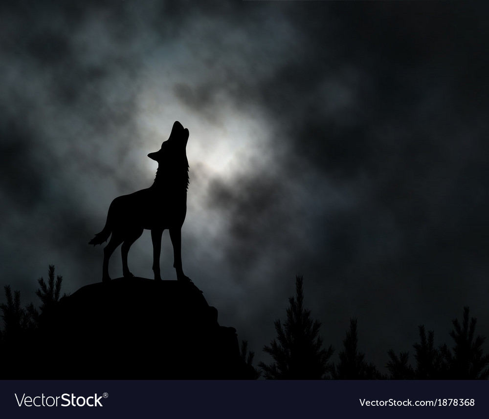 Howling wolf vector | Price: 1 Credit (USD $1)
