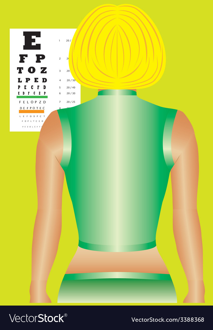 Ophthalmology chart vector | Price: 1 Credit (USD $1)