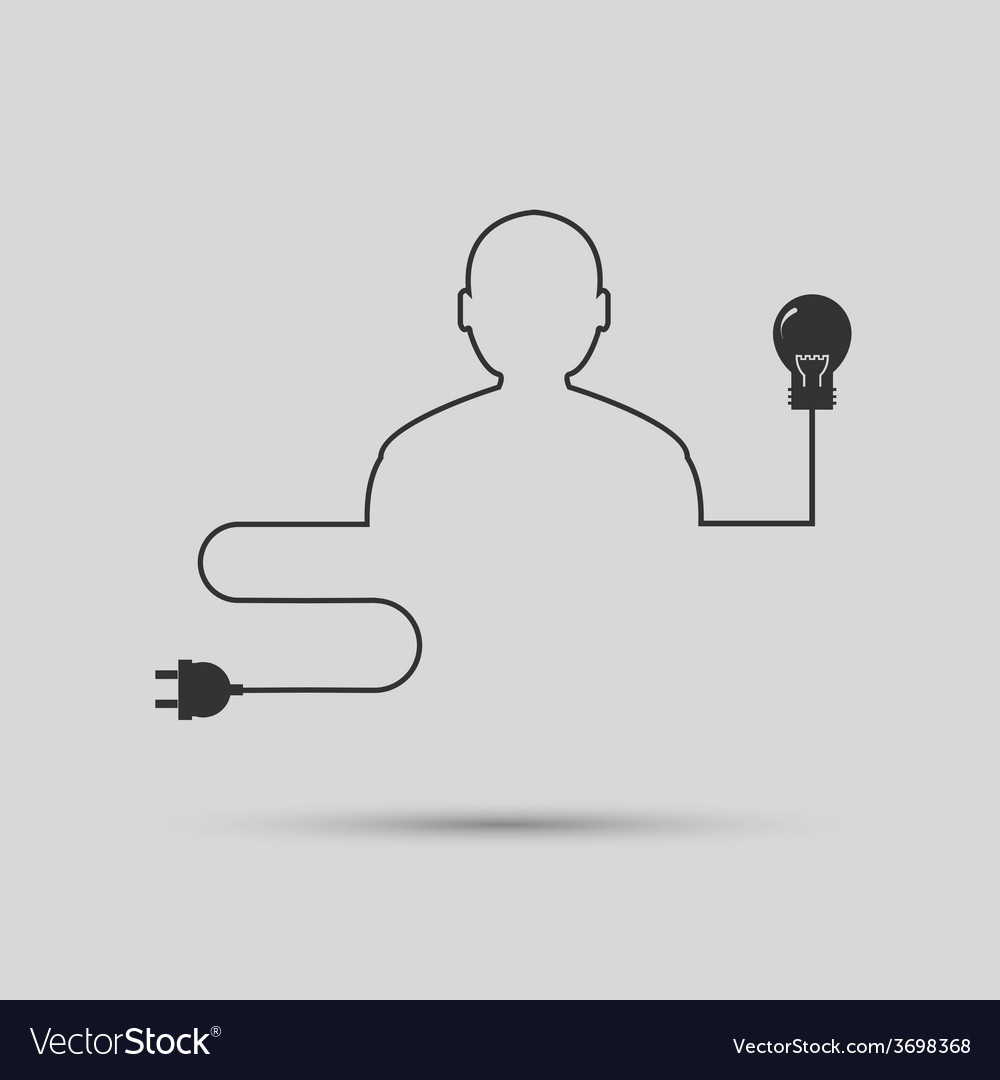 Outline of the human electrical wire vector | Price: 1 Credit (USD $1)