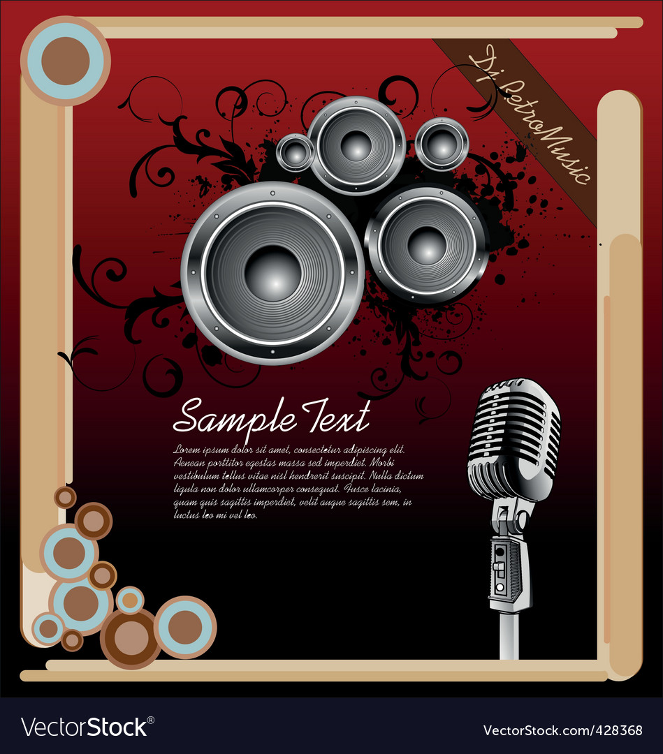 Retro music background vector | Price: 1 Credit (USD $1)