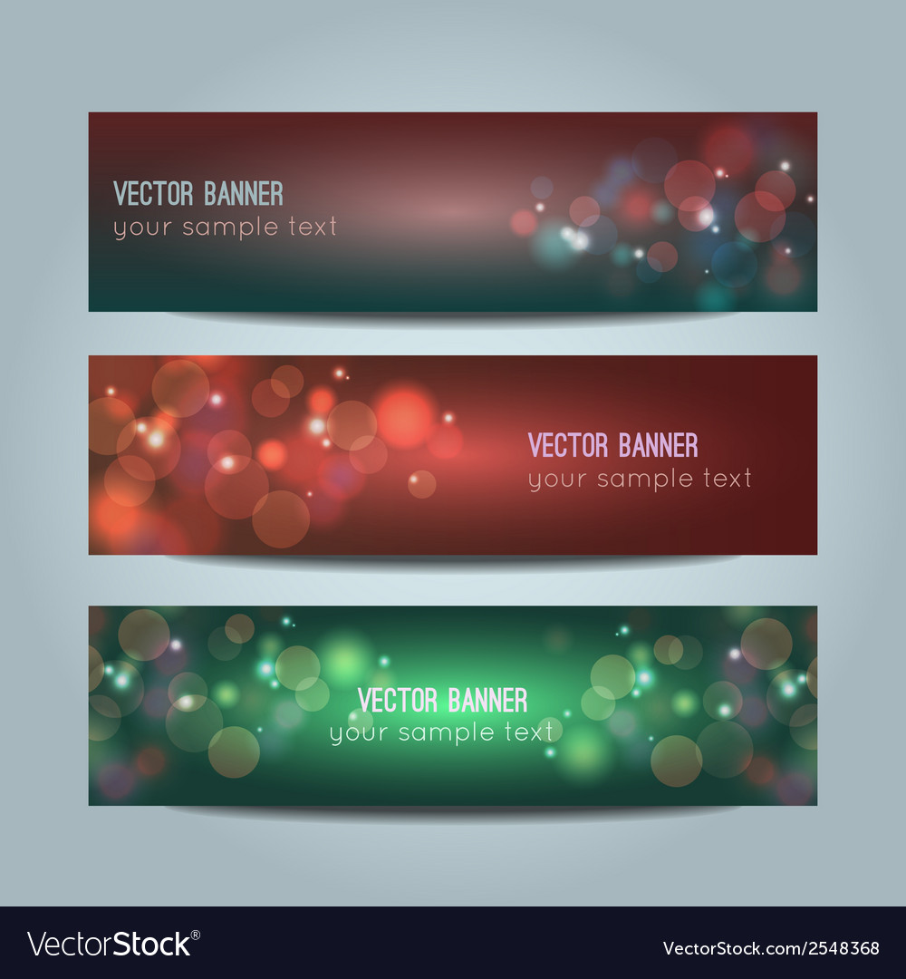Set of abstract colorful bokeh banners vector | Price: 1 Credit (USD $1)