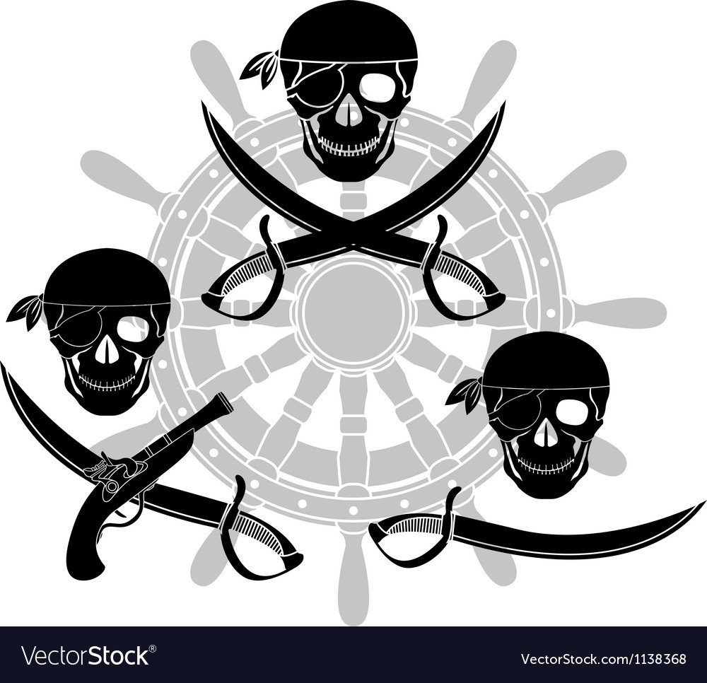 Set of pirate signs stencils vector | Price: 1 Credit (USD $1)