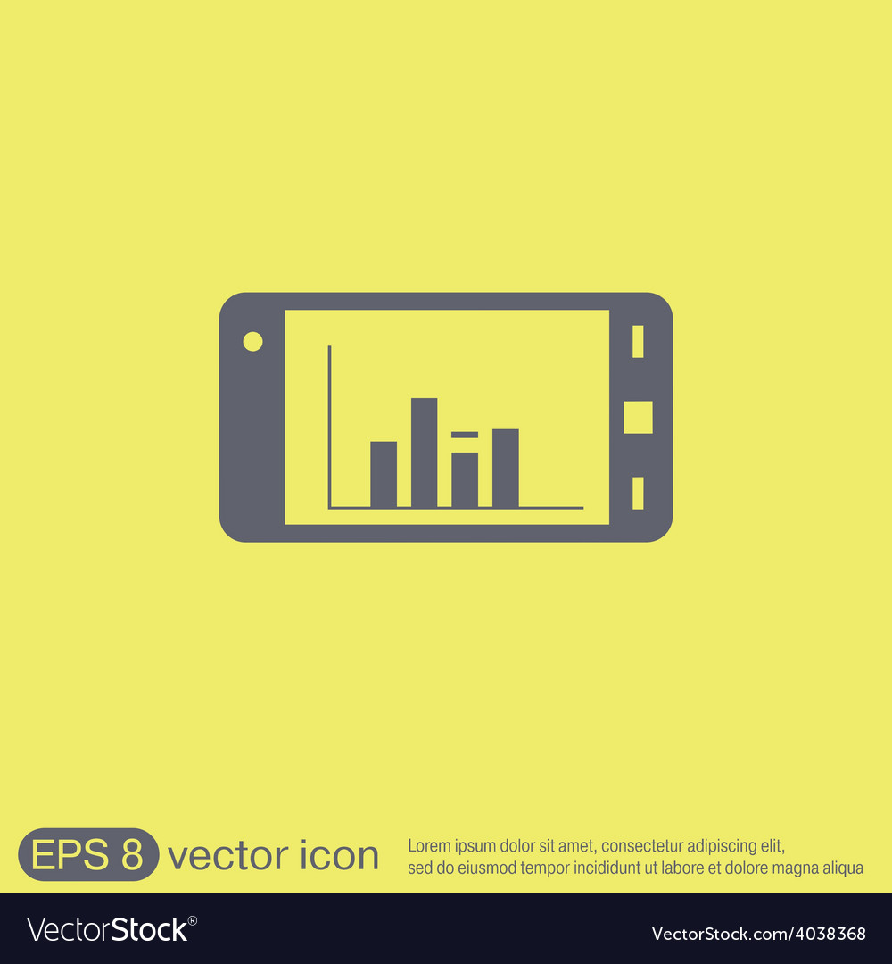Smartphone with diagram vector | Price: 1 Credit (USD $1)