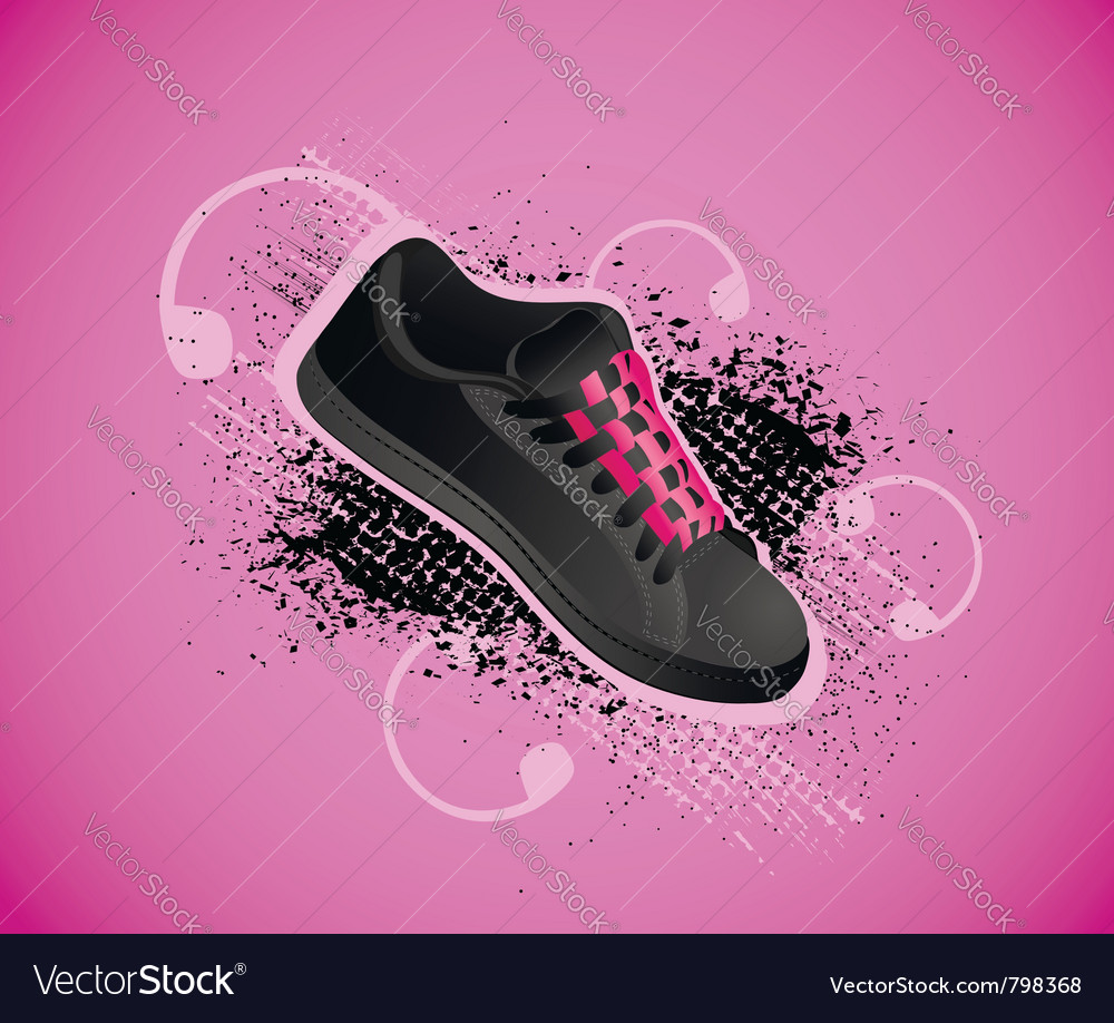 Sports shoe background vector | Price: 1 Credit (USD $1)