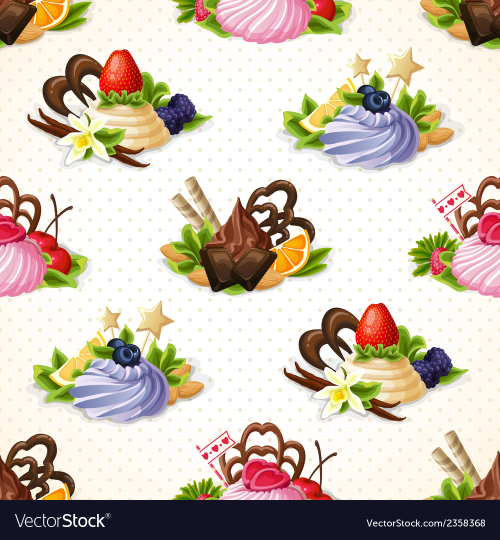 Sweets seamless pattern vector | Price: 1 Credit (USD $1)