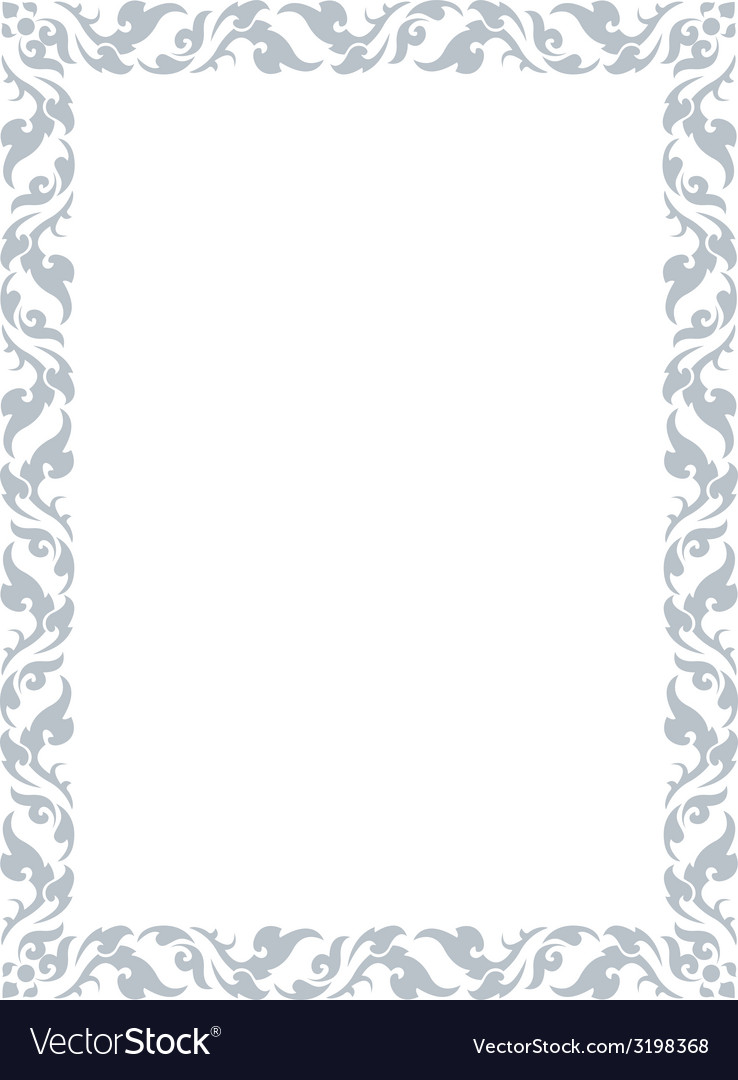 Thai pattern frame vector | Price: 1 Credit (USD $1)