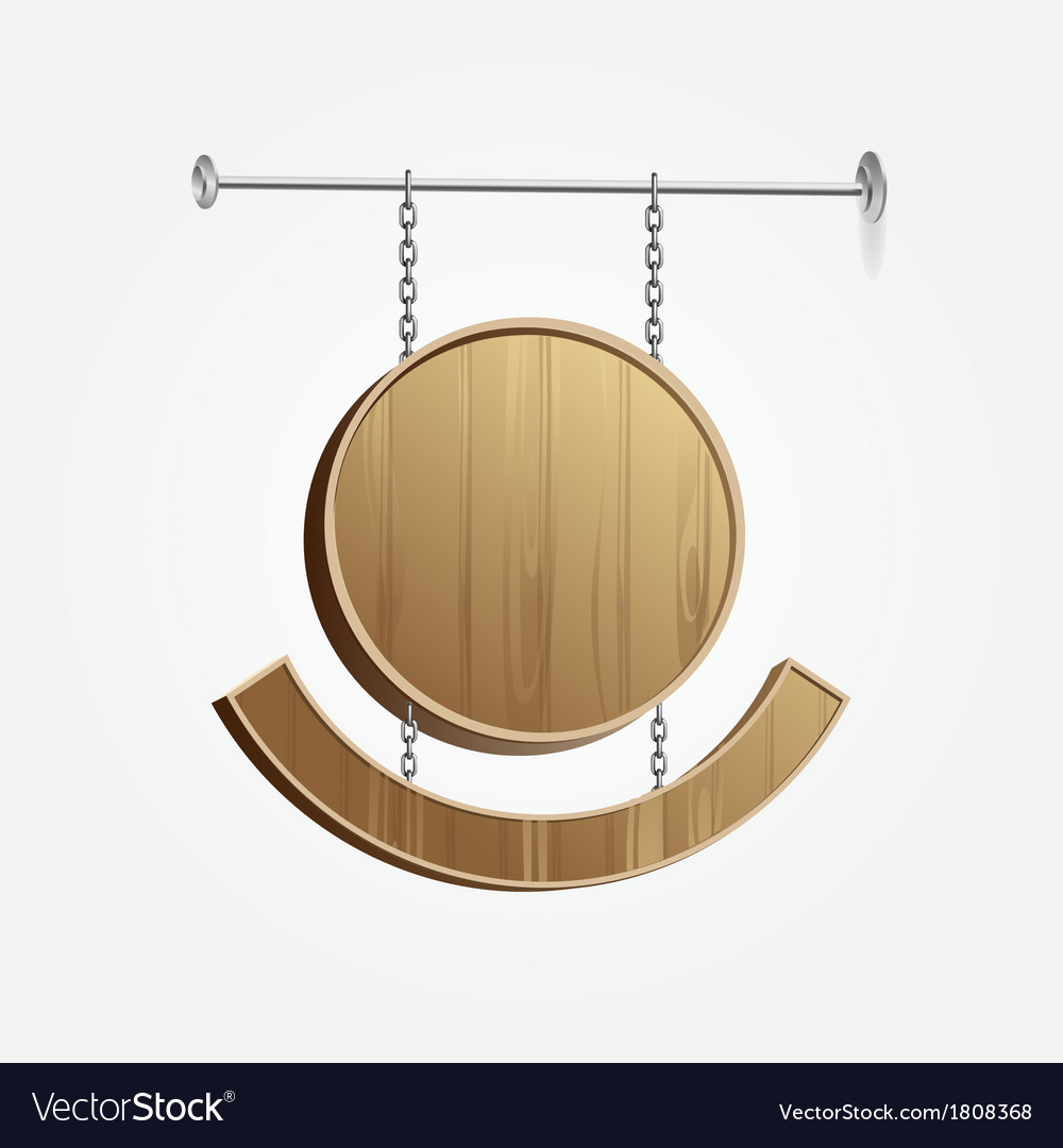 Wooden blank signboard vector | Price: 1 Credit (USD $1)
