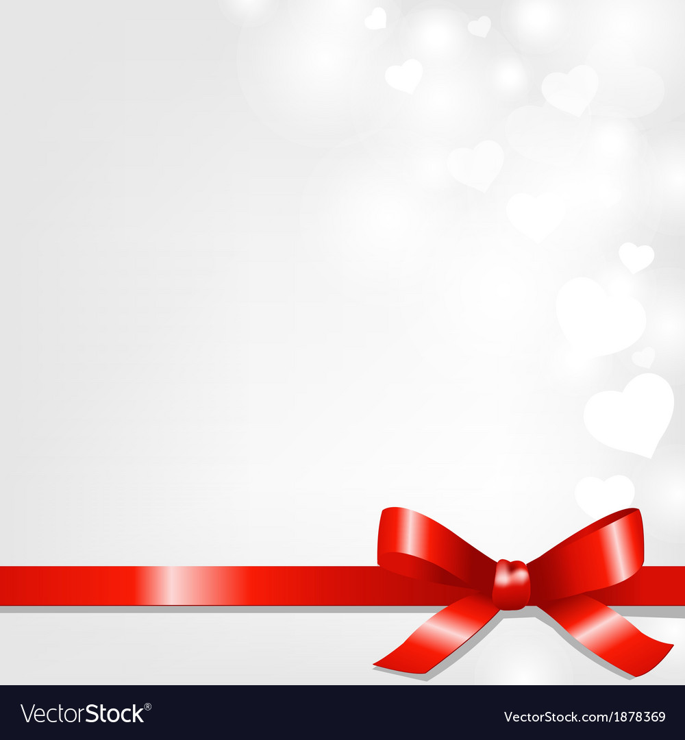 Backgrounds with red ribbon and hearts vector | Price: 1 Credit (USD $1)