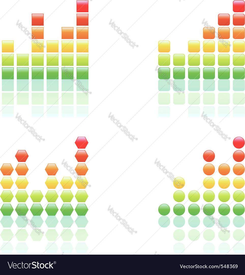 Bar grahs icons vector | Price: 1 Credit (USD $1)