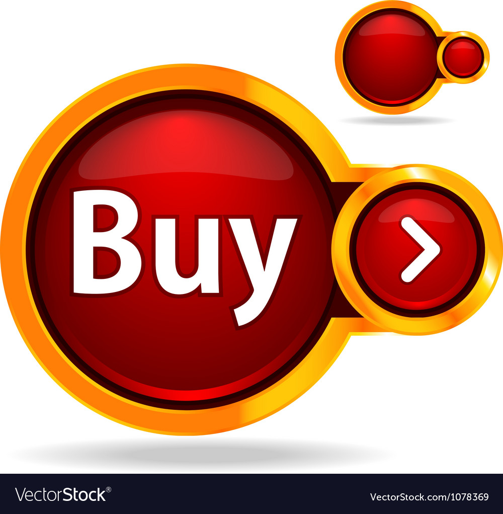 Buy button glossy icon vector | Price: 1 Credit (USD $1)