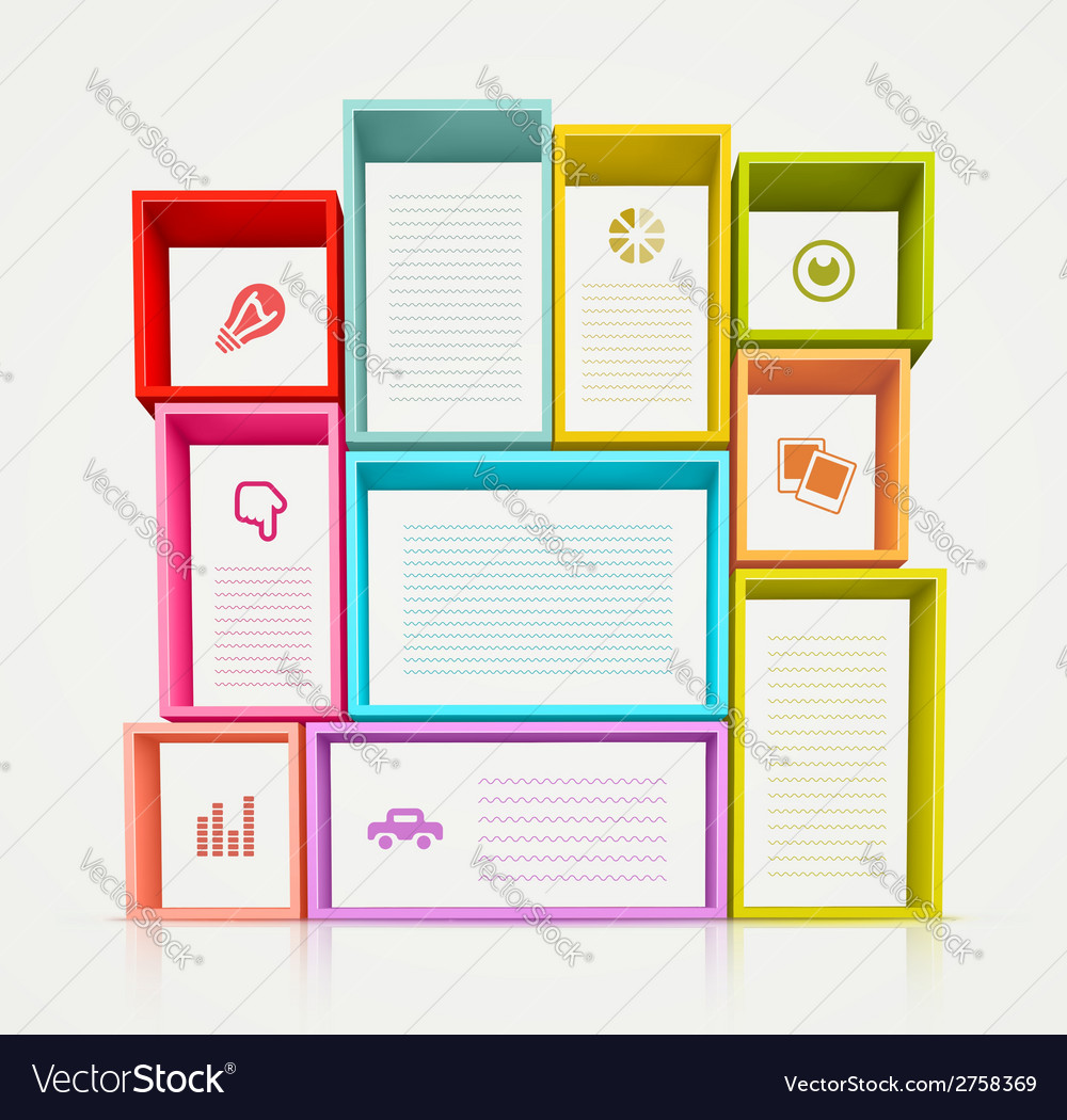 Colorful shelves vector | Price: 1 Credit (USD $1)
