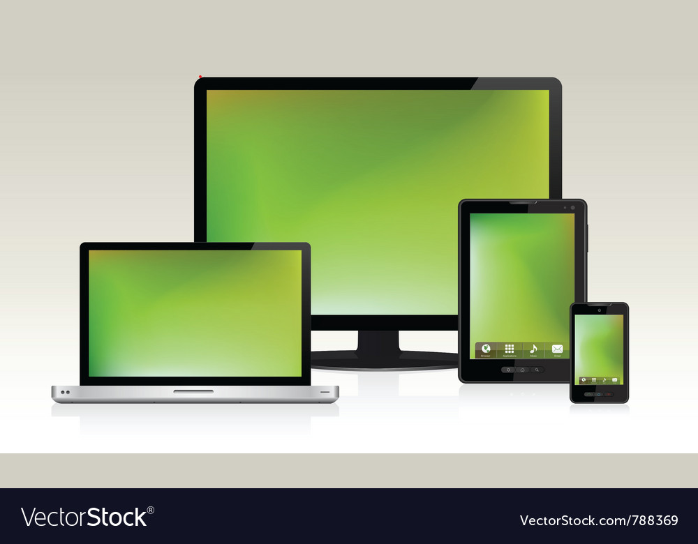 Device set 1 vector | Price: 3 Credit (USD $3)
