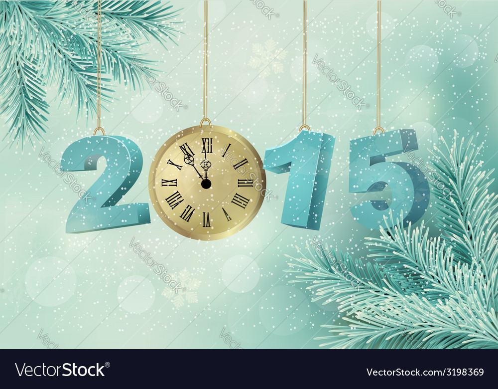 Holiday background with a 2015 made with a clock vector   Price: 1 Credit (USD $1)