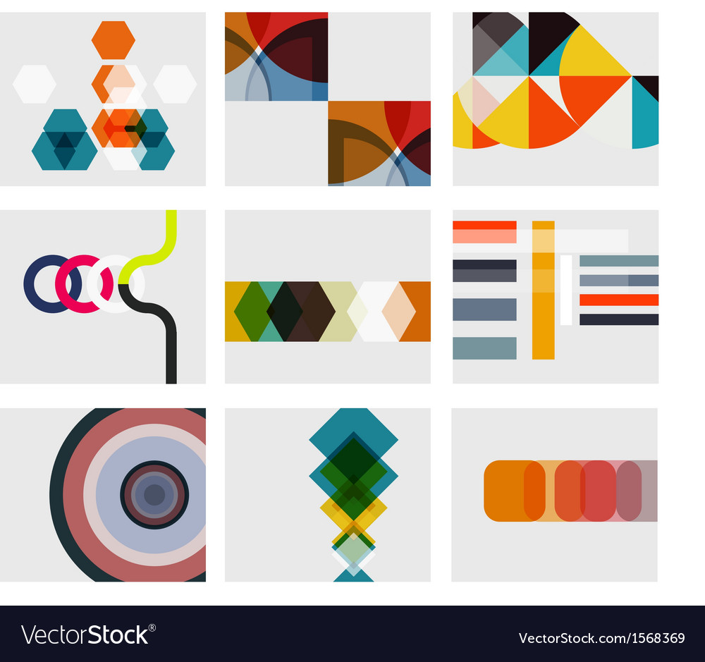 Modern abstract geometrical background templates vector | Price: 1 Credit (USD $1)