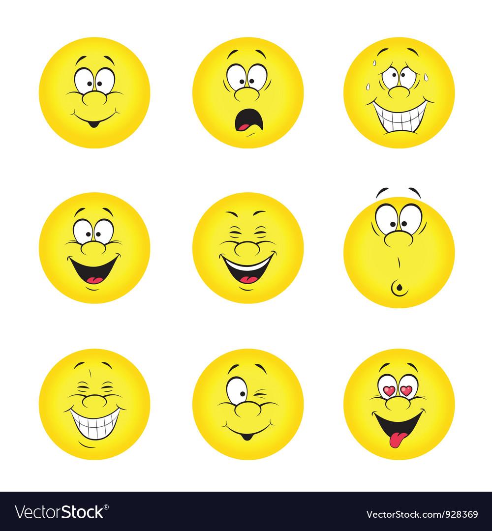 Set of smileys vector   Price: 1 Credit (USD $1)