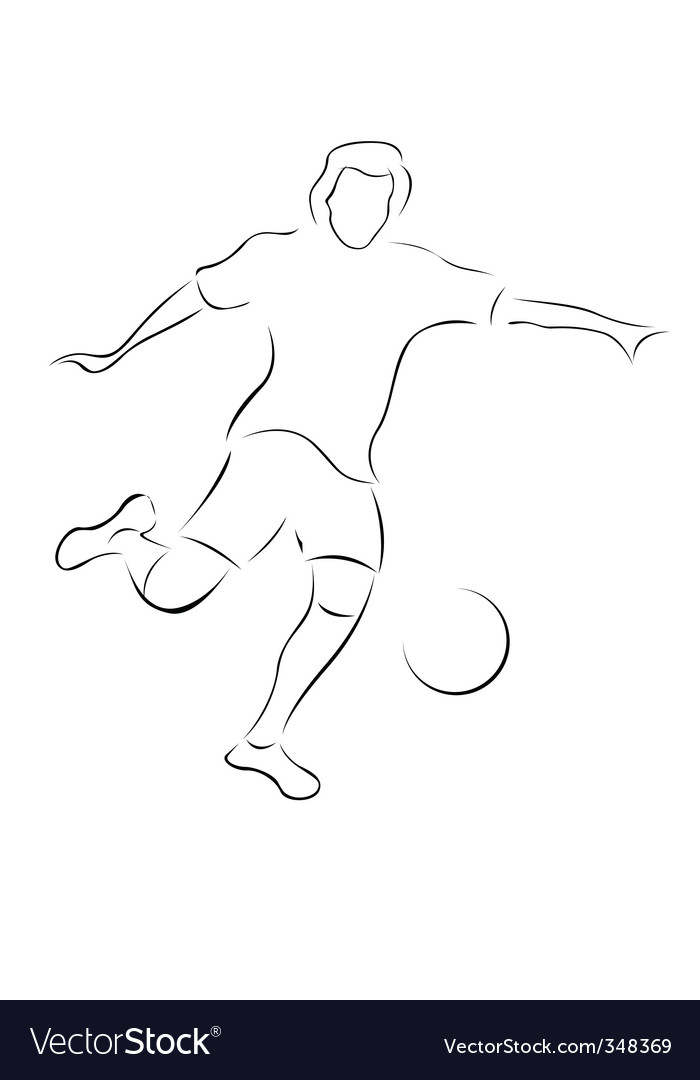 Soccer player sketch vector | Price: 1 Credit (USD $1)