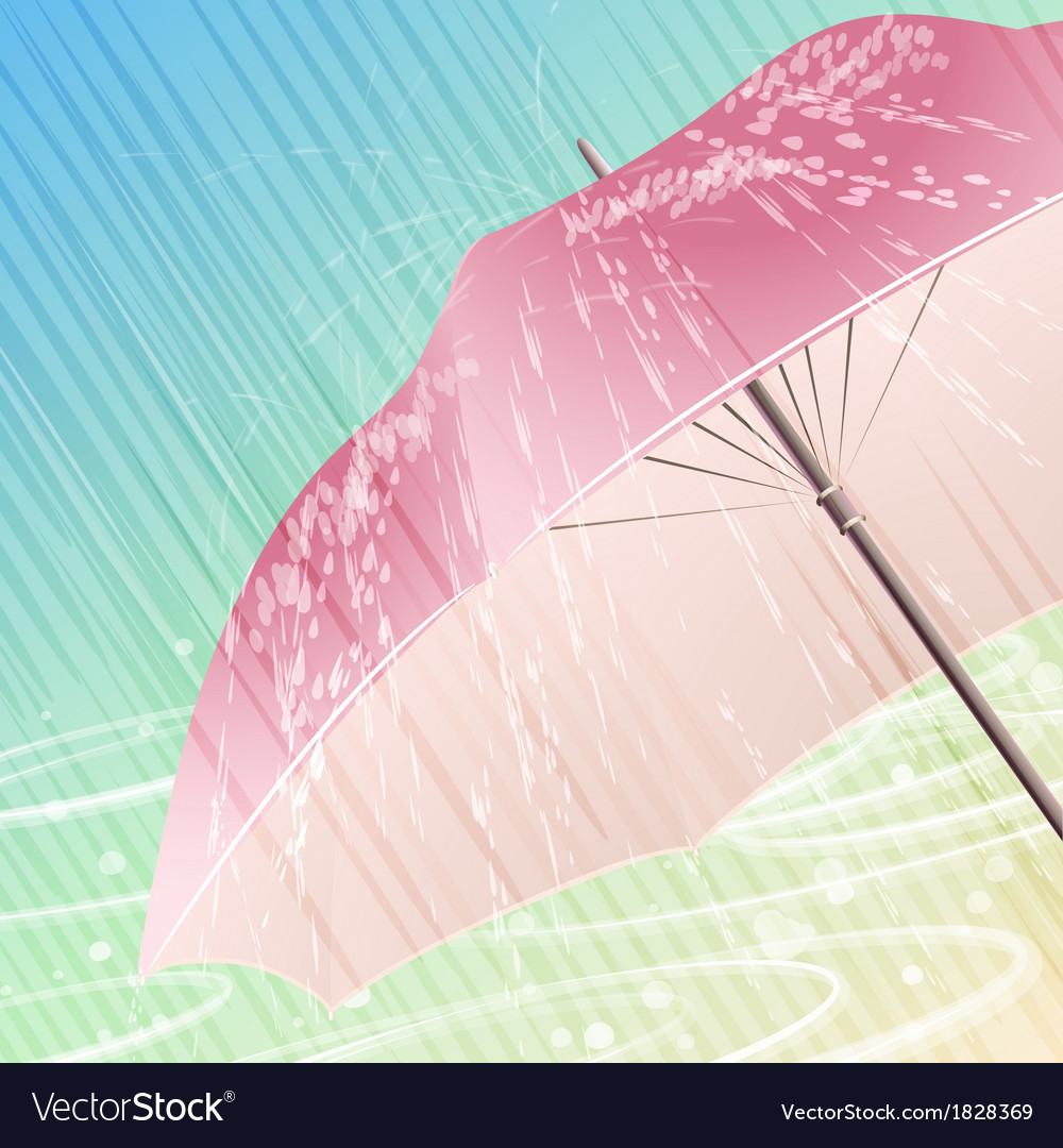 The spring rain vector | Price: 1 Credit (USD $1)