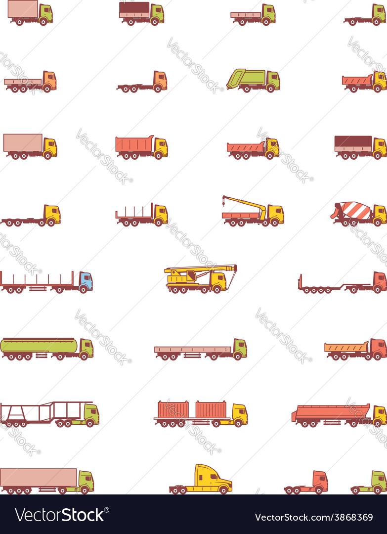 Trucks icons vector | Price: 1 Credit (USD $1)