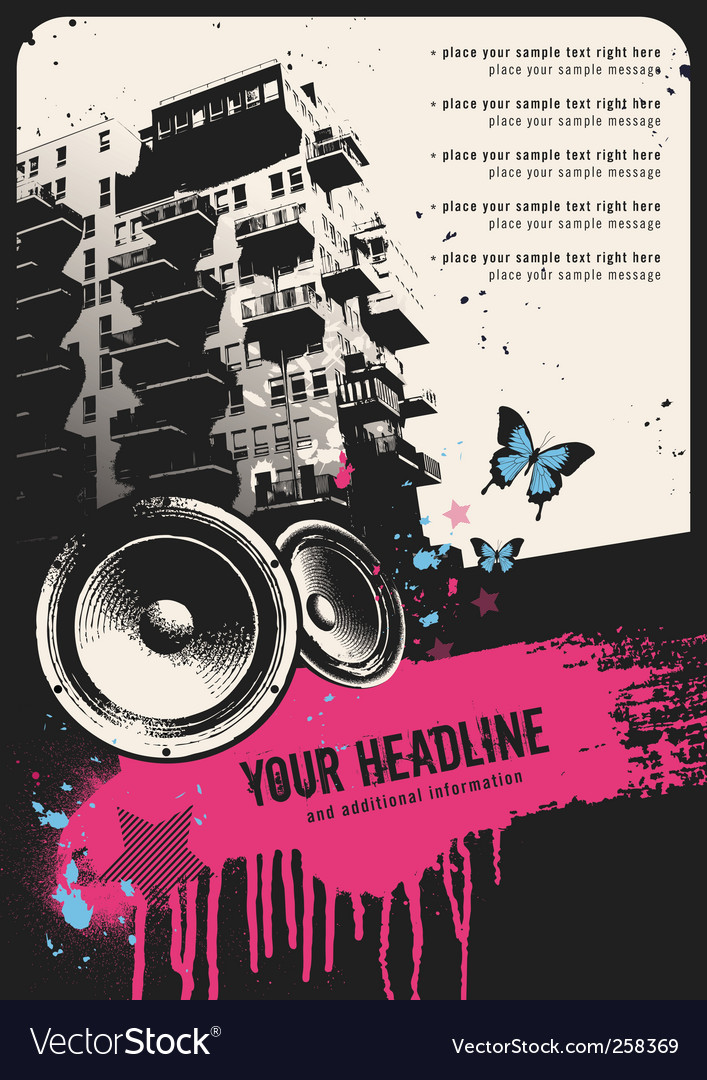 Urban party flyer vector | Price: 1 Credit (USD $1)