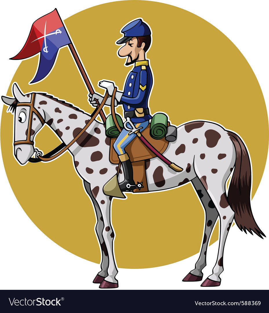 Us cavalry yellow vector | Price: 3 Credit (USD $3)