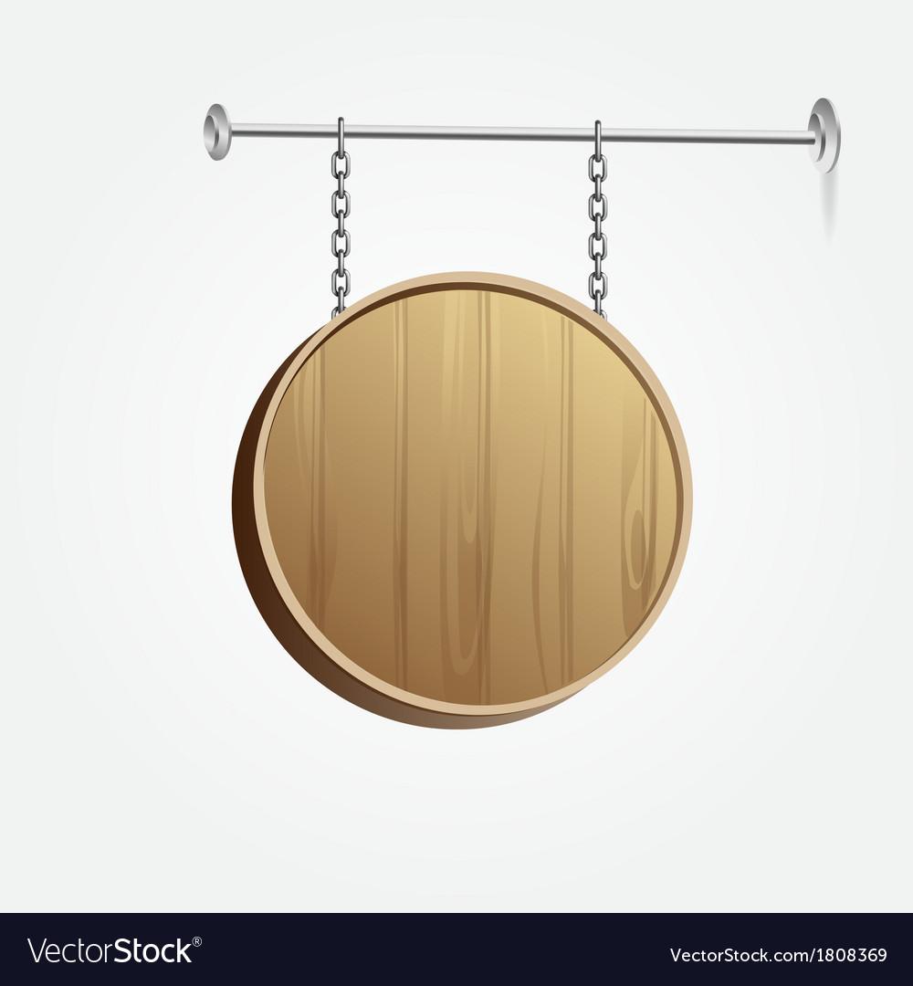 Wooden blank signboard vector   Price: 1 Credit (USD $1)