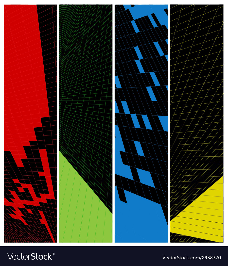 Abstract vertical banner vector | Price: 1 Credit (USD $1)