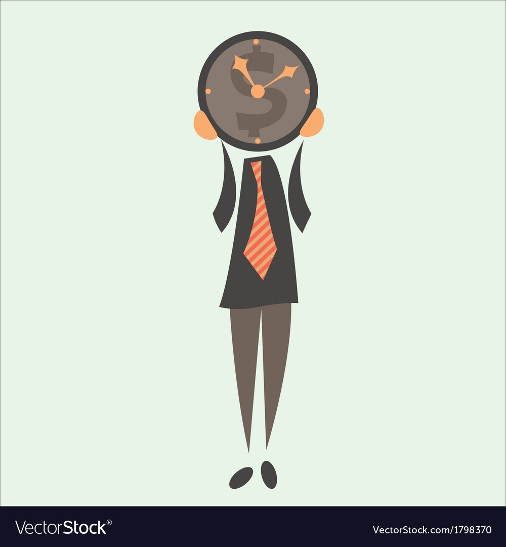 Businessman and time vector | Price: 1 Credit (USD $1)
