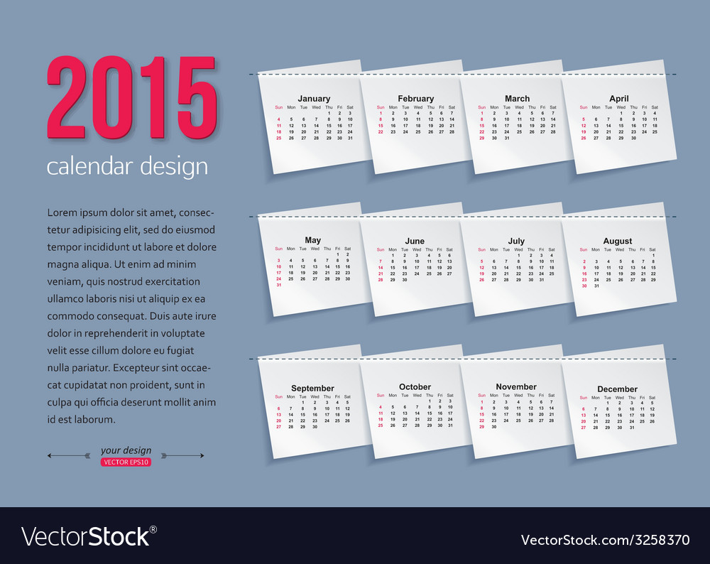 Calendar template brochure business design vector | Price: 1 Credit (USD $1)
