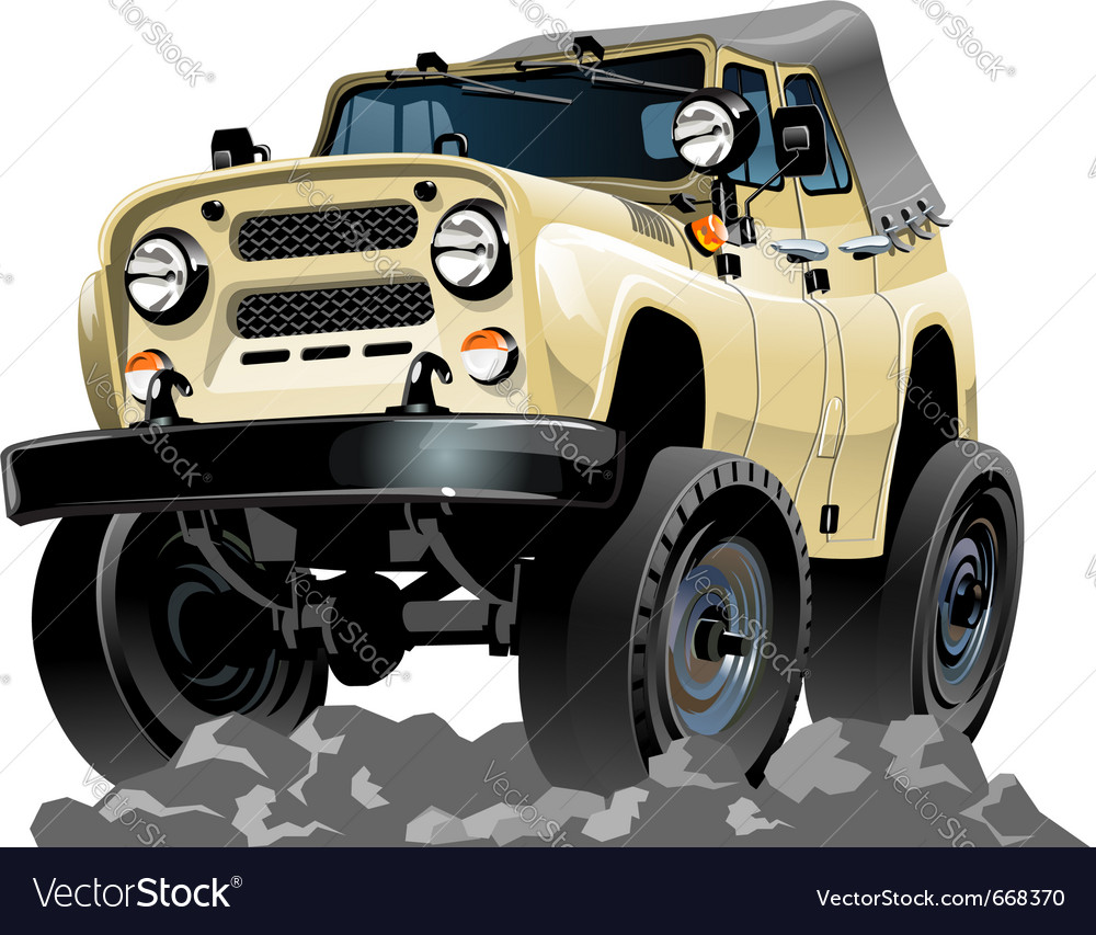 Cartoon jeep one click repaint vector | Price: 3 Credit (USD $3)