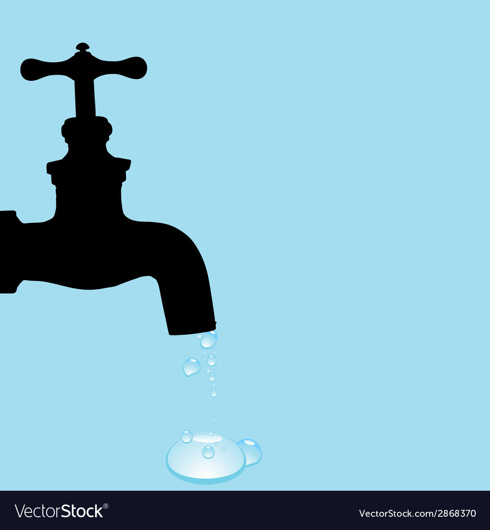 Drinking fountain and water droplets vector | Price: 1 Credit (USD $1)