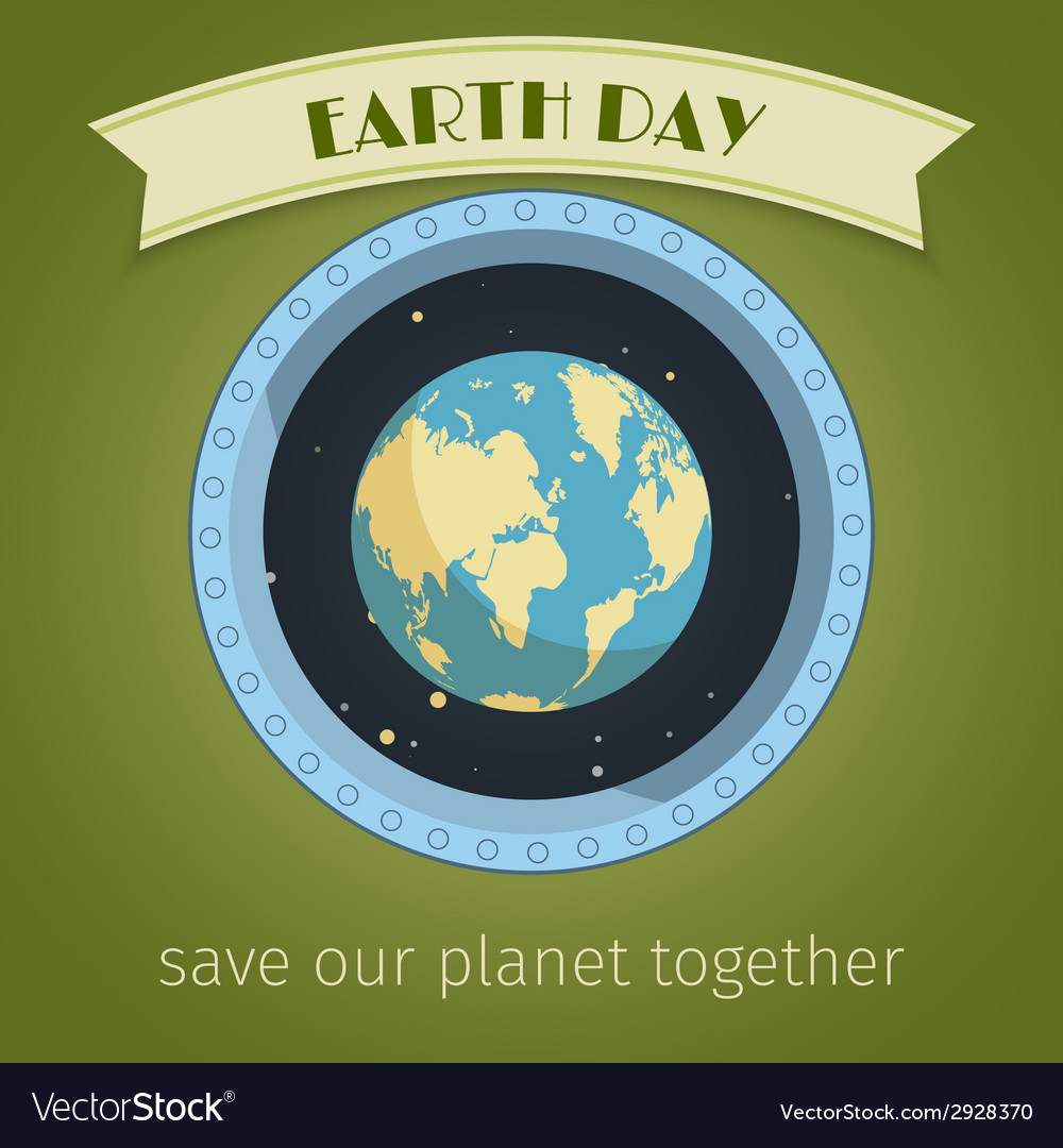 Earth day poster vector | Price: 1 Credit (USD $1)