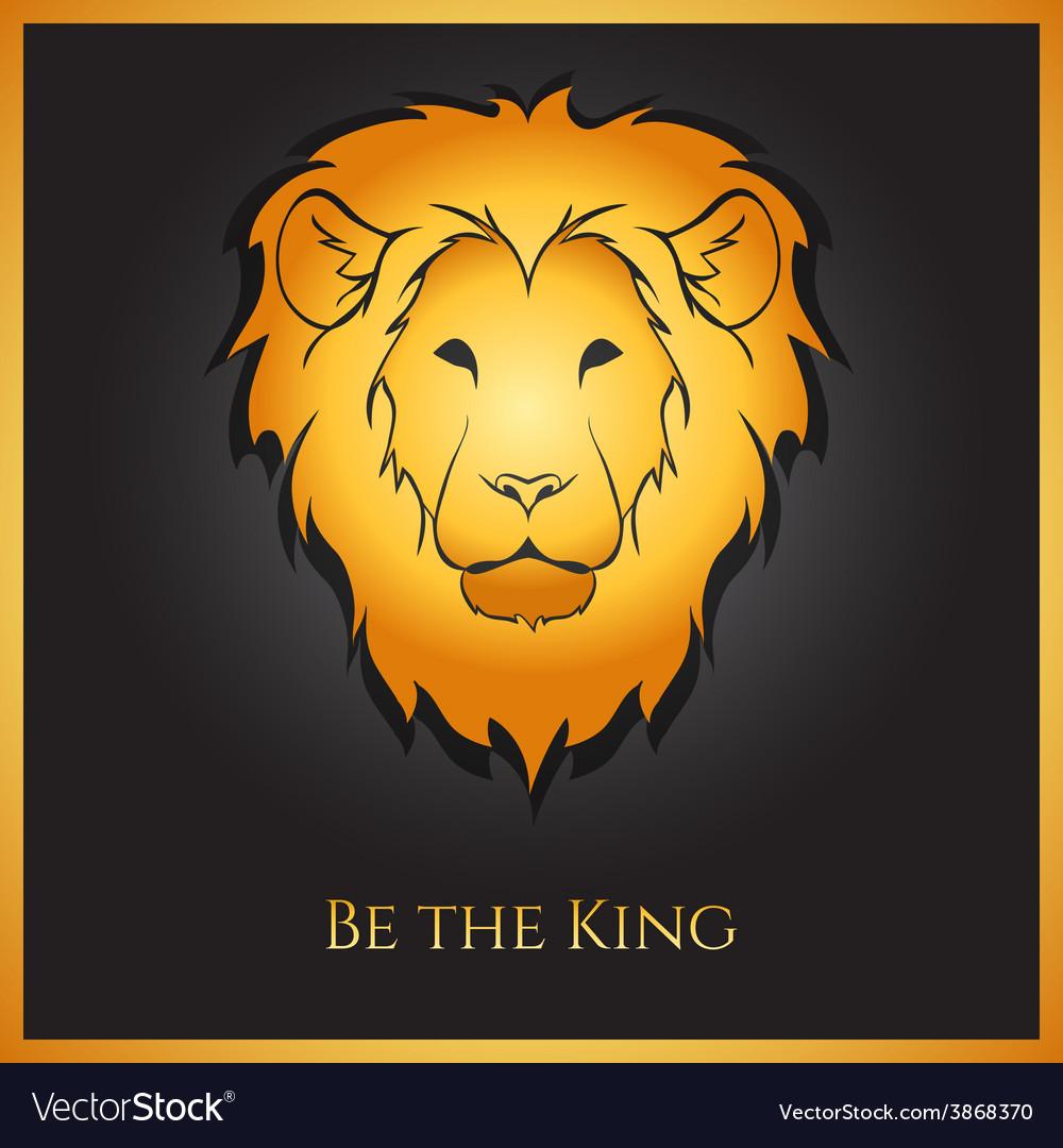 Golden lion vector | Price: 1 Credit (USD $1)