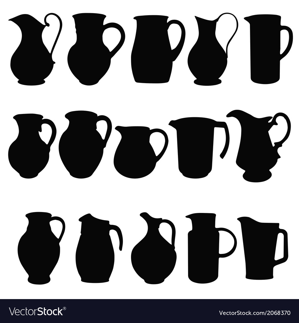 Jugs vector | Price: 1 Credit (USD $1)