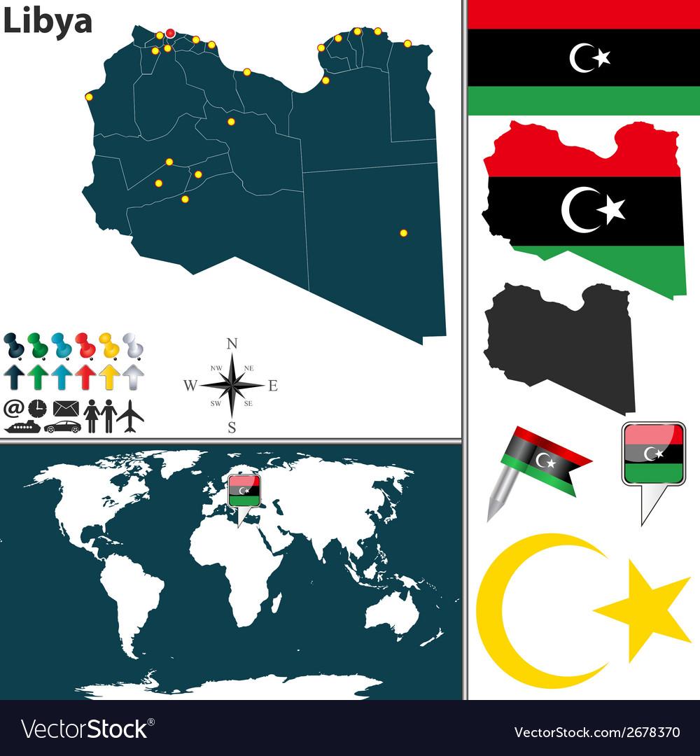 Libya map vector | Price: 1 Credit (USD $1)