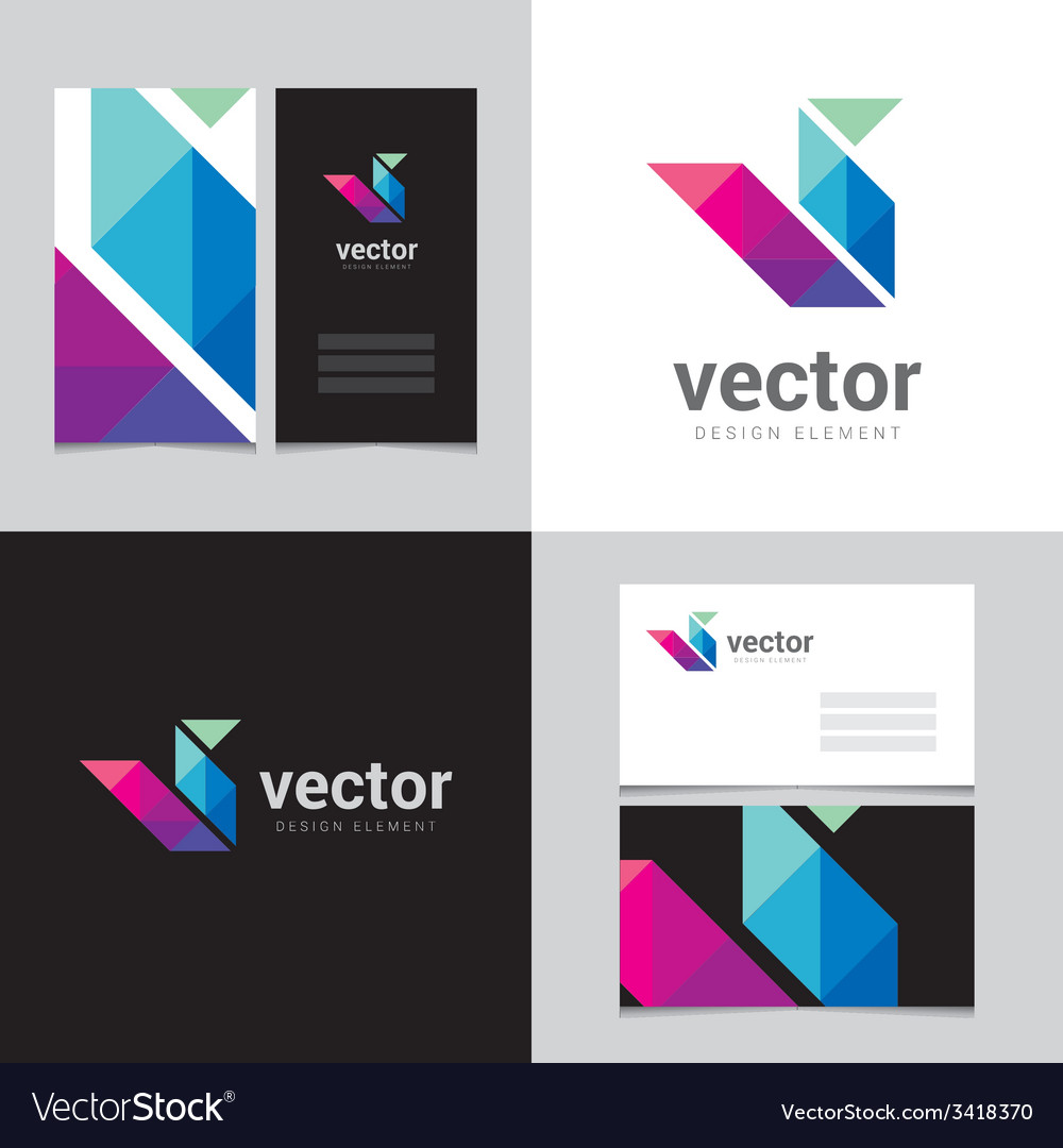 Logo design element with two business cards - 14 vector | Price: 1 Credit (USD $1)
