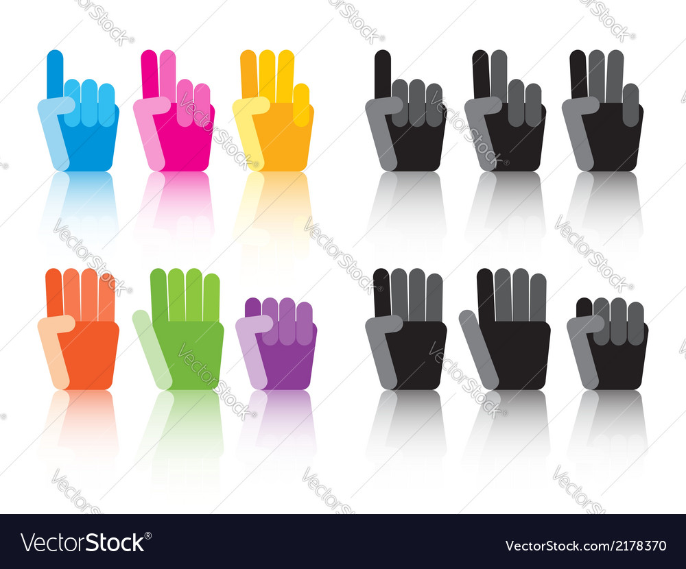 Number counting hands vector | Price: 1 Credit (USD $1)