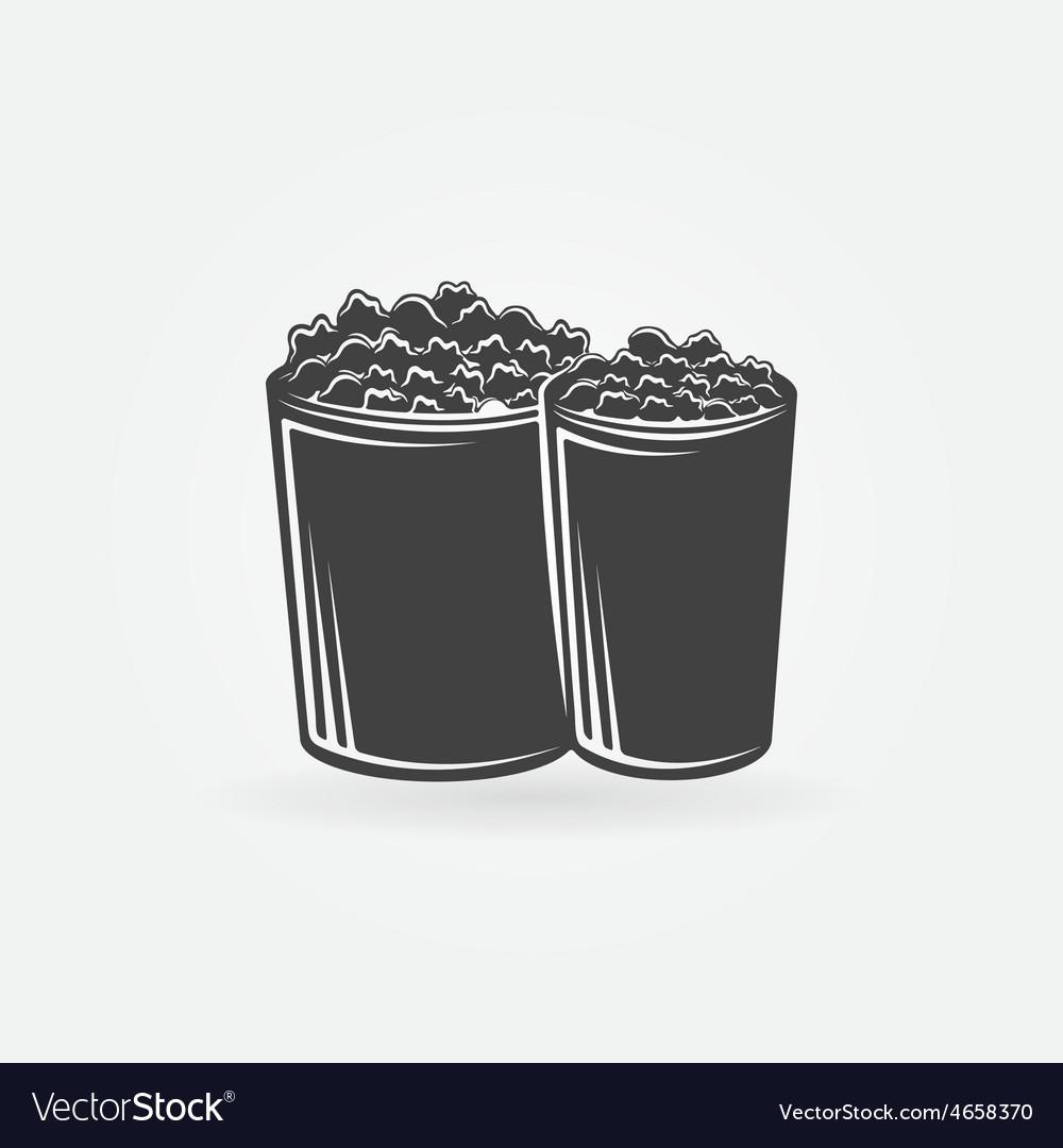 Popcorn icon or symbol vector   Price: 1 Credit (USD $1)