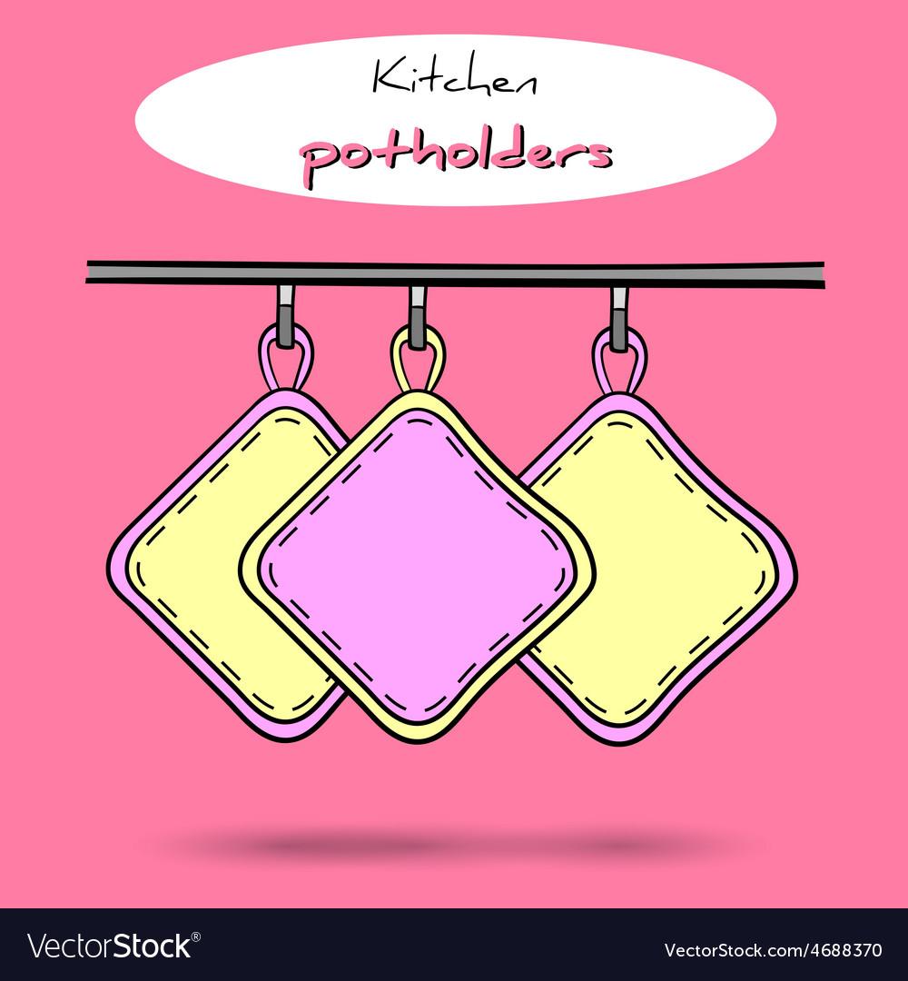 Potholders vector | Price: 1 Credit (USD $1)