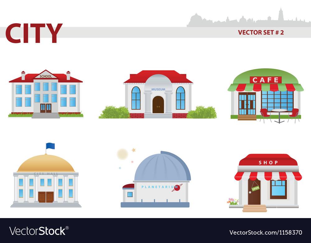Public building set 2 vector | Price: 1 Credit (USD $1)