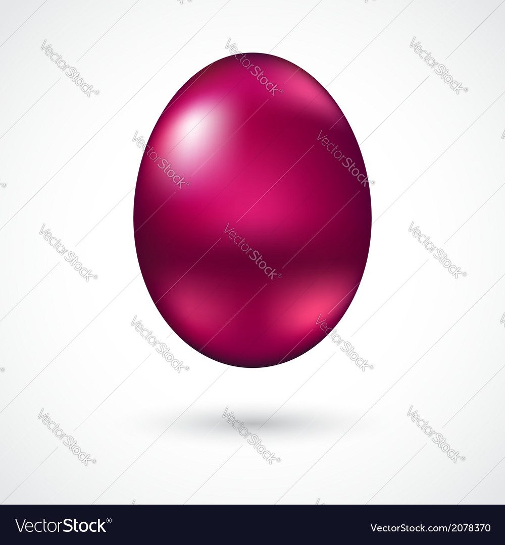 Red easter egg vector | Price: 1 Credit (USD $1)