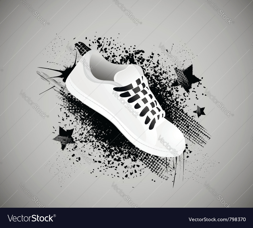 Sports shoes background vector   Price: 1 Credit (USD $1)