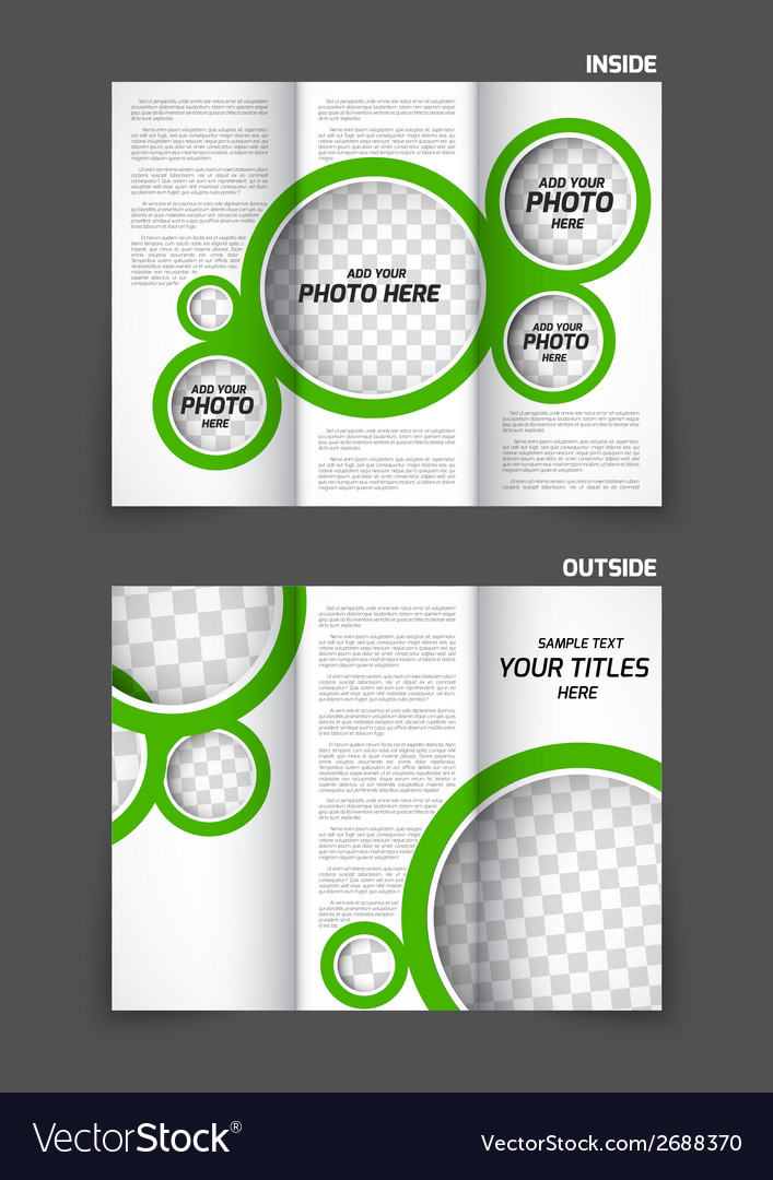 Tri-fold brochure vector | Price: 1 Credit (USD $1)