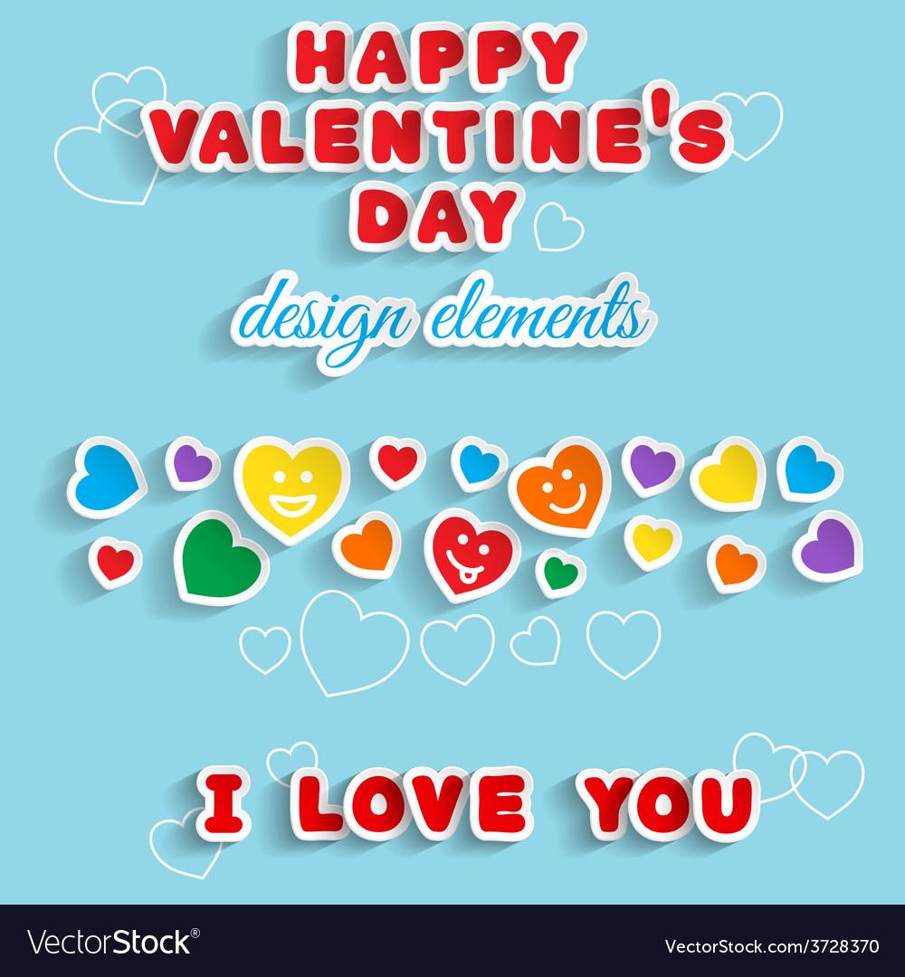 Valentines day design elements vector | Price: 1 Credit (USD $1)
